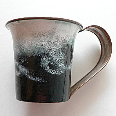 Nekrassoff Large Handled Mug - Black & White