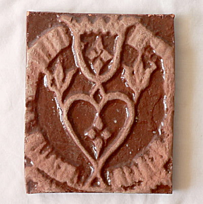 Moravian Trinity Stove Plate Tile
