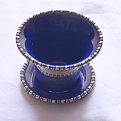 Rare Nekrassoff Silver Plate And Enamel Cup/saucer