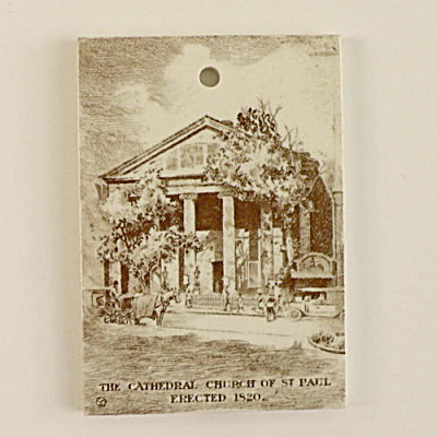 1922 Wedgwood Calendar Tile Cathedral Church St. Paul