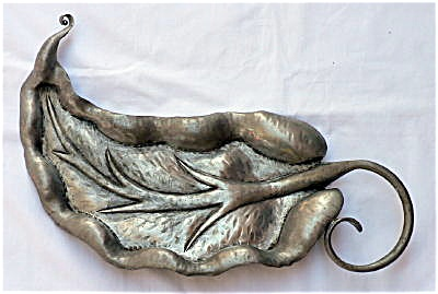 Nekrassoff Pewter Large Leaf Dish / Tray
