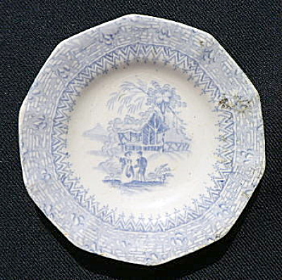 Romantic Staffordshire Cup Plate
