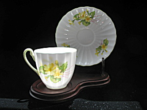 Shelley Bone China Demi Tasse Cup & Saucer - Primrose