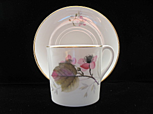 Shelley Mocha Shape Demi Tasse Cup & Saucer - Bramble