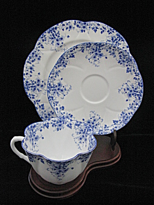 Shelley Bone China Dainty Blue Trio