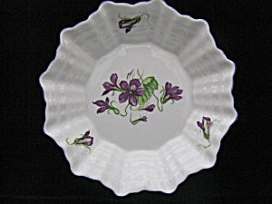 Vintage Shelley China Violets Pin Dish