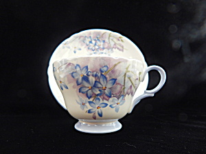 Vintage Shelley China Blue Spray Cup And Saucer