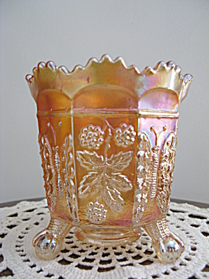 Fenton Butterfly And Berries Carnival Glass Spooner