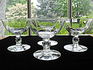 Heisey Rose Stem Dessert Goblets - Set Of 4
