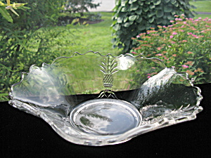 "Heisey Plantation 9 1/2"" Crimped Flower/fruit Bowl"