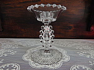 Imperial Candlewick #400 Tall Beaded Stem Candlestick