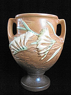 "Roseville Freesia Brown #196/8"" Vase"