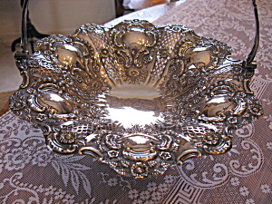 John Round & Sons Victorian Silver Pastry/brides Basket