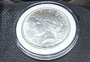 Peace Dollar 1923 Plastic Encased.