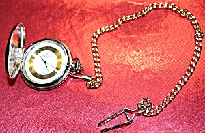 Dakota Co. Berenger Pocket Watch With Arabic Nos. On Gilt Background