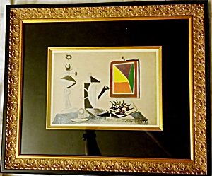Picasso. Nature Morte Au Miroir. Lithograph. First Edition. 1943. Coa,