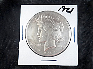 1921 Peace Silver Dollar, Key Date.