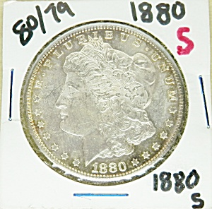 Morgan Silver Dollar 1880-s, 80 Over 79