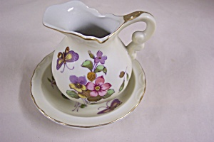Lefton Miniature Pitcher & Bowl Set
