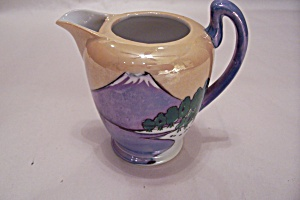 Occupied Japan Chikusa Lustre Ware Mt. Fuji Pitcher