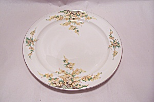 Edwin Knowles Hostess Pattern Yellow Flowers Plate