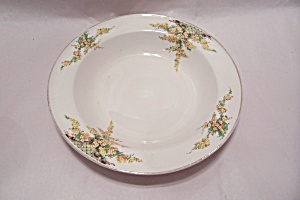 Edwin Knowles Hostess Yellow Flowers Pattern Soup Bowl