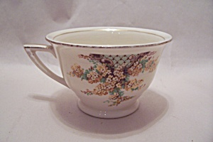 Edwin Knowles Hostess Pattern Yellow Flowers Footed Cup