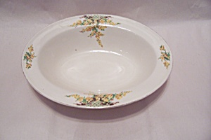Edwin Knowles Hostess Yellow Flowers Vegetable Bowl