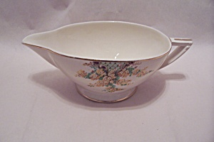 Edwin Knowles Hostess Pattern Yellow Flowers Gravy Bowl