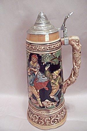 German Style & Motif Large Beer Stein