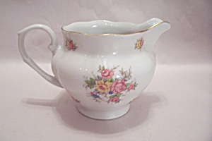Zavolina (Poland) Fine China Rose Motif Cream Pitcher