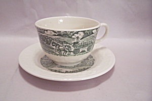 Homer Laughlin Pastoral Pattern Cup & Saucer