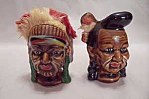 Occupied Japan Native American Salt & Pepper Shakers