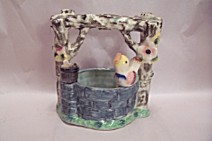 Occupied Japan Porcelain Wishing Well Cache Pot