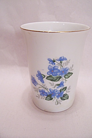 Occupied Japan Blue Flower Porcelain Vase