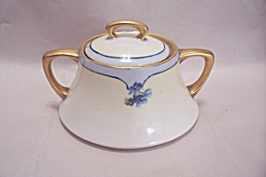Hand Painted Bavarian China Sugar Bowl