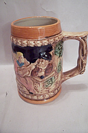 German Style Porcelain Beer Stein