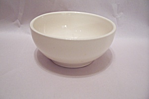 Mccoy White Pottery Cereal/soup Bowl