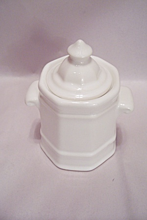 Pfaltzgraff White Pottery Sugar With Lid