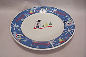 Coca Cola Laughing Snowman Bread & Butter/salad Plate