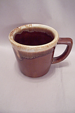 Mccoy Brown Drip Pottery Mug