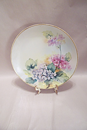 Nippon Handpainted Floral Motif Collector Plate