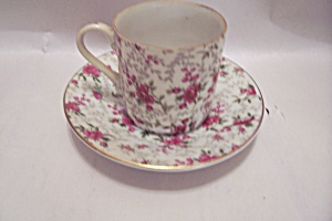 Lefton Fine China Rose Pattern Demitasse Cup & Saucer