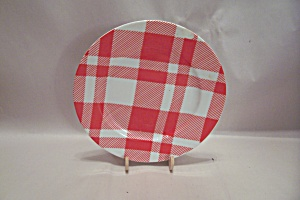 Fitz & Floyd Red And White Plaid Fine China Salad Plate