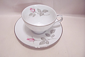 Zylstra Rose Pattern Fine China Cup & Saucer Set