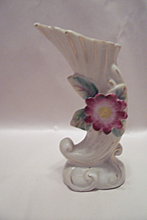 Occupied Japan Porcelain Horn Of Plenty Vase