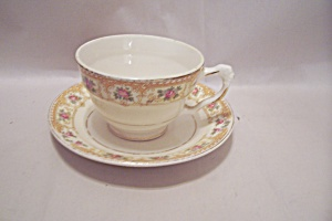 Crown Croyden Pattern Fine China Cup & Saucer Set