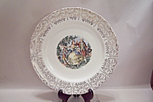 Sabin Colonial Couple Pattern China Dinner Plate