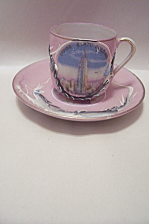 Occupied Japan Dragon Ware Demitasse Cup & Saucer