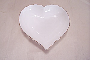 Lefton Bone China White Heart Shaped Dish